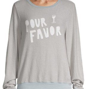 Wildfox Pour Favor Graphic Sweatshirt NWT